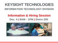 Keysight Technologies Information and Hiring Session