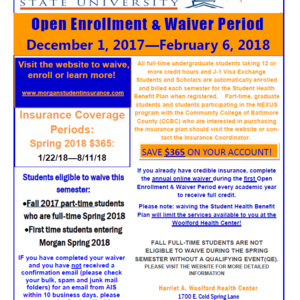Spring 2018 Waiver Period (Full-time Undergraduate Students)