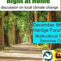 Right at Home: A Discussion of Local Climate Change