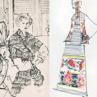 Two exhibits at the Decker Library highlight fashions in mid-20th century America