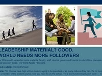 Center for Ethics & Leadership Fusion Discussion: Followers Needed