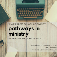 Pathways in Ministry: Internship and Career Fair