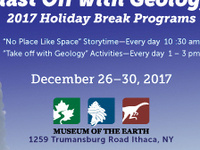 """Blast Off with Geology!""--Holiday Break Programs at the Museum"