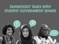 Dunwoody Talks with Student Government Senate