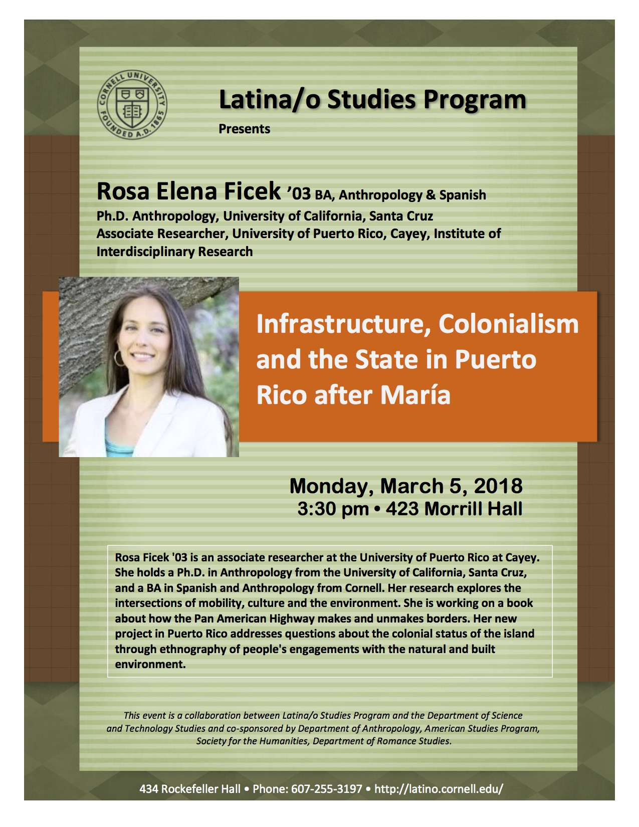 Rosa Ficek '03, Infrastructure, Colonialism and the State in Puerto Rico after María
