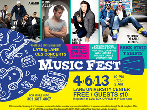 CES Concerts and Late at Lane present Music Fest