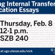 Effective Internal Transfer Essay Workshop