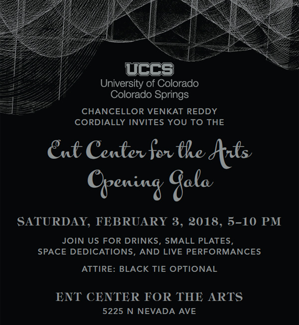 UCCS Ent Center for the Arts Opening Gala