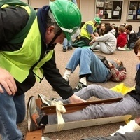 Volunteers: CERT Simulation Drill