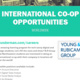 Unmissable International Co-op Opportunity