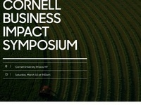 Cornell Business Impact Symposium: Unleashing the Hidden Power of Sustainability