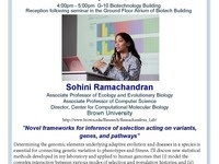 "3CPG Seminar with Sohini Ramachandran ""Novel frameworks for inference of selection acting on variants, genes and pathways"""