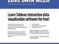 Love Data Week: Tableau Workshops