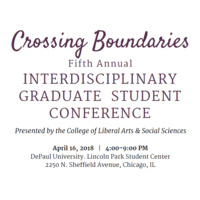 Crossing Boundaries: Fifth Annual Interdisciplinary Graduate Student Conference