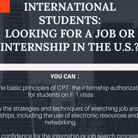 International students: looking for a job or internship in the U.S.?