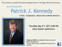 The Sigma Phi Society Presents: An Evening With Patrick J. Kennedy