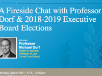 Professor Dorf Fireside Chat and ACS Elections
