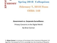 Center of Theory Lecture: Government vs. Corporate Surveillance