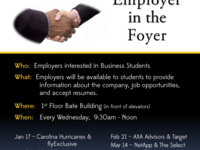 Employer in the Foyer Spring 2018