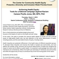 Achieving Health Equity: Tools for a National Campaign Against Racism