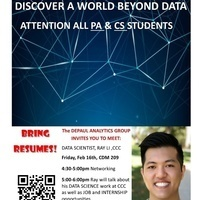 DePaul Analytics Group Guest Speaker Series: Discover a World Beyond Data