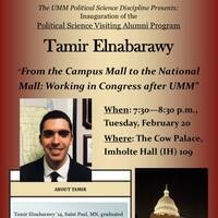 Political Science Visiting Alumni Program: Tamir Elnabarawy '14