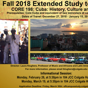 Fall 2018 Cuba Extended Study Information Session