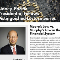 Sid-Pac Presidential Fellows Distinguished Lecture: Professor Andrew Lo