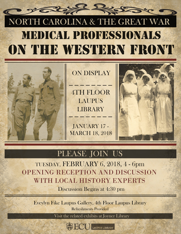 NC & The Great War: Medical Professionals on the Western Front