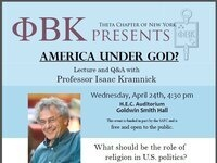 America Under God? A Lecture and Q&A with Professor Isaac Kramnick