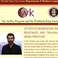 UP WITH SCHEHERAZADE: REPRESENTATIONS OF RESISTANCE AND TRAUMA IN ANGLOPHONE ARAB LITERATURE