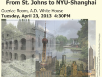 "Professor Zhang Jishun (ECNU), ""Crossing the 1949 Divide: From St. Johns to NYU-Shanghai"""
