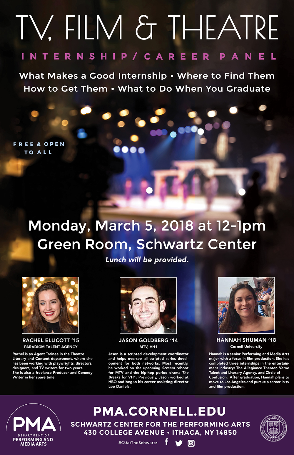 TV, Film & Theatre Internship/Career Panel