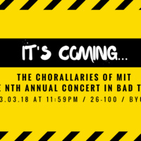 The Chorallaries of MIT Present: the nth Annual Concert in Bad Taste