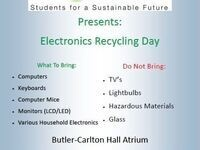 Recyclemania Electronics Recycling Event
