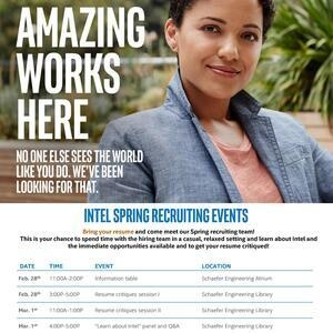 Intel's Spring 2018 Recruiting Events