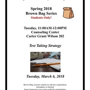Brown Bag Series - Test Taking Strategy