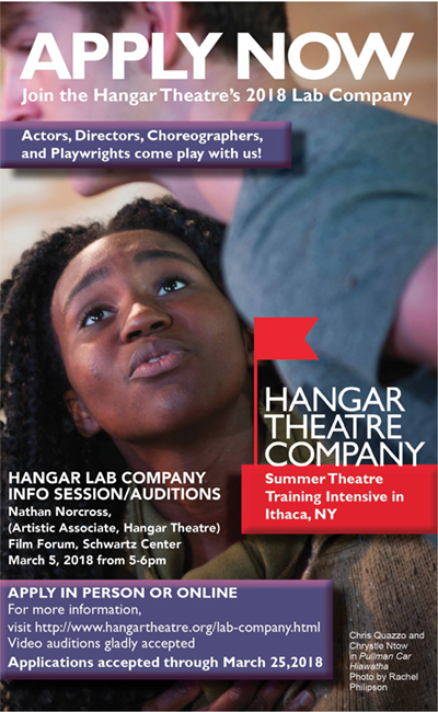 Hangar Theatre Lab Company Info Sessions/Auditions