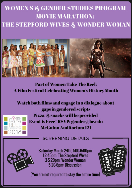 Women's History Month: WGS Movie Marathon