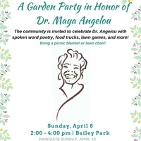 Garden Party in Honor of Dr. Maya Angelou