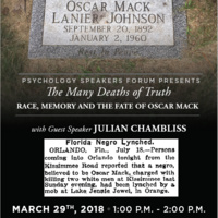 The Many Deaths of Truth: Race, Memory and the Fate of Oscar Mack