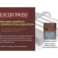 Great Decisions 2018: China and America - The New Geopolitical Equation