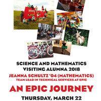 Science and Mathematics Visiting Alumna Jeanna Schultz '04: An Epic Journey