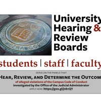 Apply to Serve on the University Hearing & Review Boards