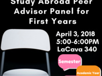 Study Abroad Peer Advisor Panel for First Year Students