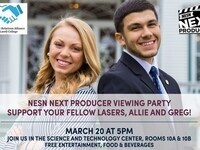 NESN Viewing Party for Allie Clancy and Greg Camillone