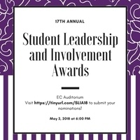 18th Annual Student Leadership and Involvement Awards