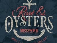 Rosé & Oysters @ Browne Family Vineyards