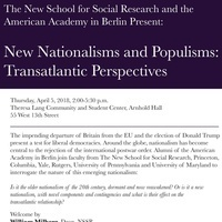 New Populisms and Nationalisms: Transatlantic Perspectives