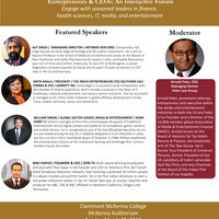 The South Asian Studies Association 12th Annual Conference presents Entrepreneurs & CEOs: An Interactive Forum Engage with seasonal leaders in finance, health sciences, IT, media and entertainment